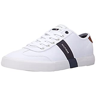 Tommy Hilfiger Men's Pandora Shoe, White, 12 Medium US
