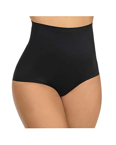 BeautyLean Tummy Control Shapewear for Women High Waist Shaping Panty Laser Cut Firm Control Briefs Womens Underwear Plus Size (Black, 4X)