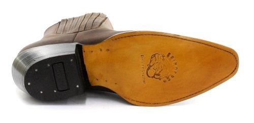 Grinders Maverick para hombre, diseño de botas Cowboy, color marrón - Crazy Horse Dark Brown