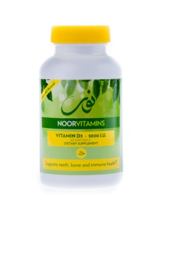 NoorVitamins Витамин D3 5000 МЕ - 60 Softgels - Халяль Витамины