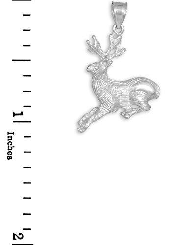 10 ct 471/1000 Or Blanc Cerf Charme Pendentif