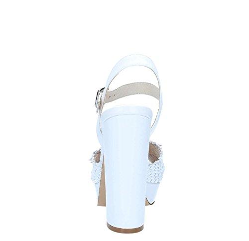 CAFèNOIR 203 Mujer Bianco Sandalia KNC232 qq7Y6xP