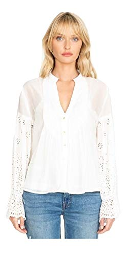 Johnny Was Women's Paz Pintucked Blouse, Antique, Large