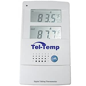 Voice Zone/ Tel-temp Talking Indoor/Outdoor Thermometer