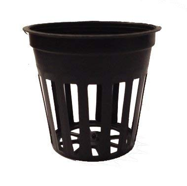2 Inch Round Orchid Hydroponics Slotted Mesh Net Pot – 25 Pack
