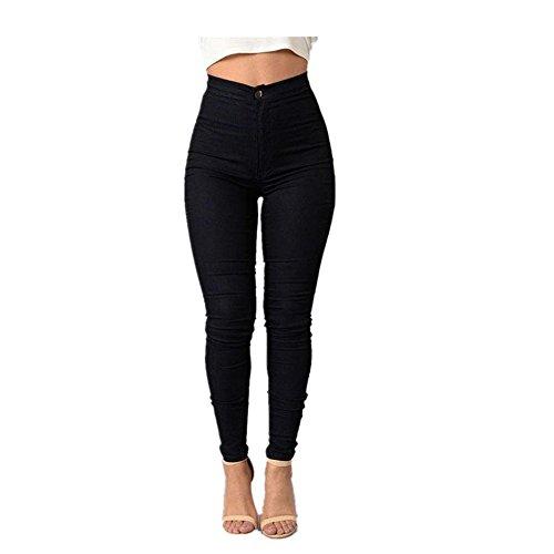 Jeans Chica Pantalones Leggings Negro Casual Denim Familizo Mujeres txEwvfxZ