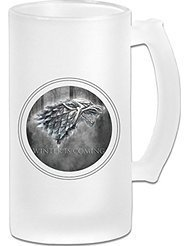 Winter Is Coming Frosted Glass Pub Big Beer Stein - (Character Beer Stein)