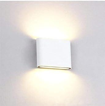 Treppe 【aktualisiertes Modell】OOWOLF LED Wandleuchte 3000K 6W IP65 Wasserdichte Wandleuchte f/ür Innen Au/ßen,/ f/ür Wohnzimmer Schlafzimmer Wandleuchte Innen Garten Energieklasse A++