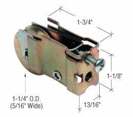 CRL 1-1/4'' Steel Sliding Glass Door Roller With 13/16'' Wide Housing for Acorn & Wells Aluminum Doors - D1559