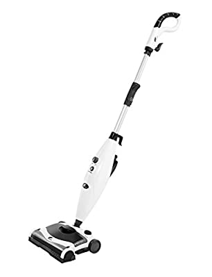 Hausbell MW8100 All-in-One Sweeper and Steam Mop for Floor and Carpet Pet Hair Eraser with 2 Mop Pads