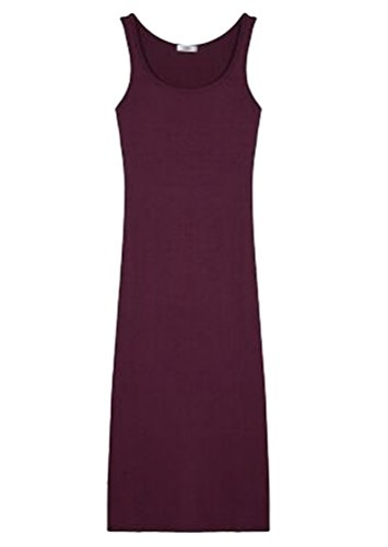 de Camisa Mujer Chalecos T Blusa Fiesta LINNUO Vest Playa Rojo Largo Shirt Vestir Noche Mangas Vino de Sólido Vestido Color Sin YqnAzf5