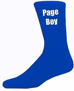 Azul para Hombre calcetines de boda de alta calidad páginas Boy - azul calcetines (adulto 6-12)