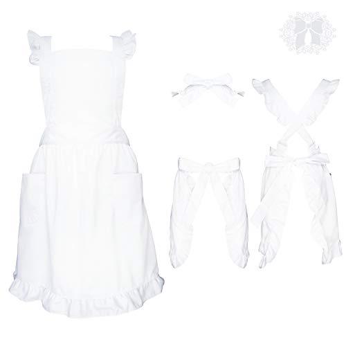 Premium Victorian Maid Costume with Ruffle Outline, Two