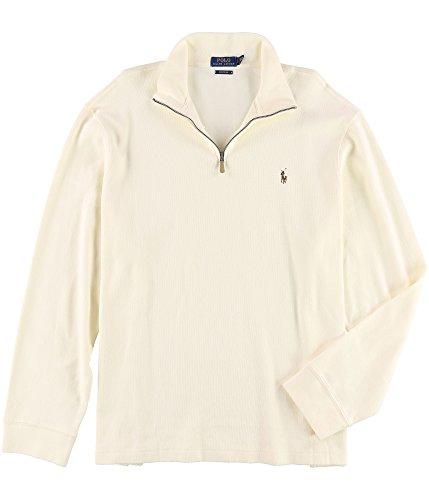 Polo Ralph Lauren Men's Estate-Rib Mock-Neck Pullover (Olympia Cream, XL) -