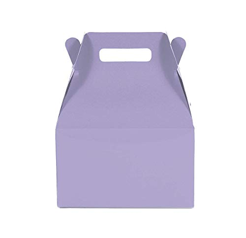 12CT(1 Dozen) Medium Biodegradable, Kraft/Craft Favor, Treat Gable Boxes (Medium, Lavender)