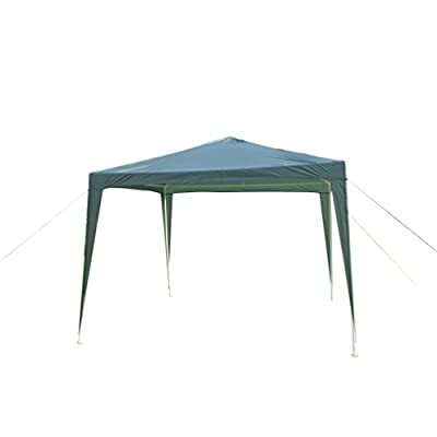 GOJOOASIS Canopy Tent Wedding Party Tent Outdoor Gazebo 10' x 10' Heavy Duty Green