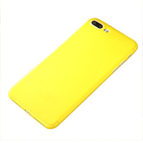 """Price comparison product image iPhone 7 Case, Tenworld Slim Shock Absorption Colorful PC Bumper Case Cover For iPhone 7 Plus 5.5 inch / iPhone 7 4.7 inch Back Cover Skin (For iPhone 7 Plus 5.5"""", Yellow)"""
