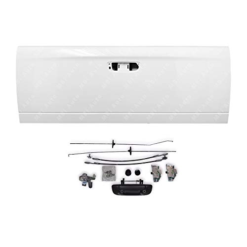 MBI AUTO - Painted PW7 White Steel Tailgate & Hardware Kit for 2002-2009 Dodge Ram 1500 2500 3500 02-09, CH1900121