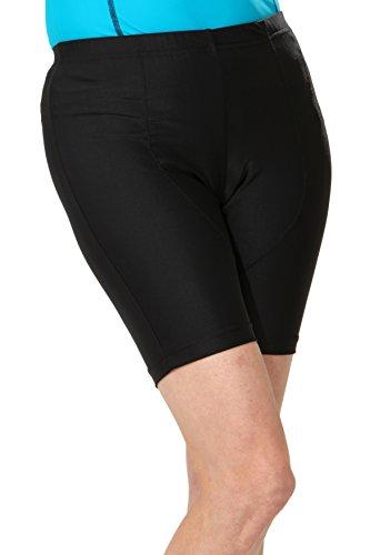 HydroChic Plus Size Diving Diva Swim and Bike Shorts 1X in Black