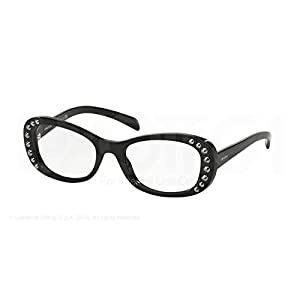 PRADA Eyeglasses PR 21RV 1AB1O1 Black 51MM