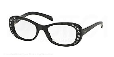 ffdf564e06 Image Unavailable. Image not available for. Color  PRADA Eyeglasses PR 21RV  1AB1O1 Black 51MM