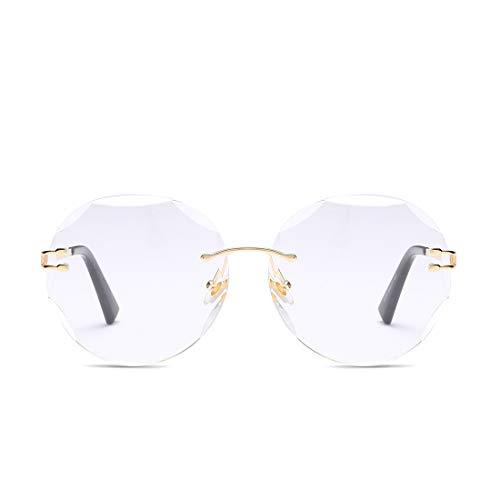Gold Lunettes Lens LiShihuan White Lunettes UV400 White Femme pour Soleil Color Frame Lens Lens de Gold Frame de Mirrored Chameleon Soleil YRTFq