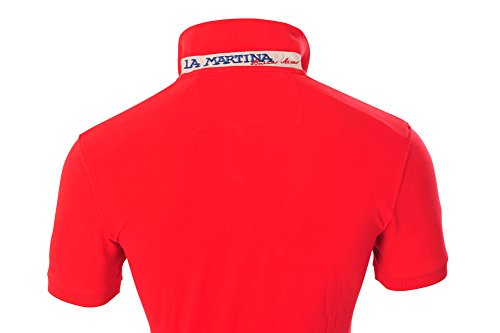 La Martina Polo Poloshirt Herren Rot Slim Fit Baumwolle Casual M