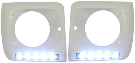 Kitt hcmbg65wc faros delanteros para covers White LED DRL cromo