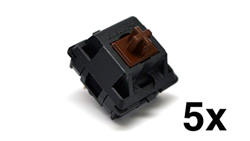 Cherry MX Brown Keyswitch (5 pack) - MX1AG1NN | Plate Mounted | Tactile Switch | by himalayanelixir