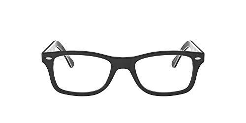 Ray-Ban RX5228 Square Eyeglass Frames, Top Matte Black On Textured Camo/Demo Lens, 50 mm (Randlose Eye Glass Frames)