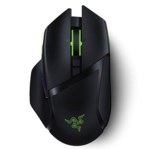 Razer Basilisk Ultimate HyperSpeed Wireless Gaming Mouse: Fastest Gaming Mouse Switch - 20K DPI Optical Sensor - Chroma RGB Lighting - 11 Programmable Buttons - 100 Hr Battery - Classic Black