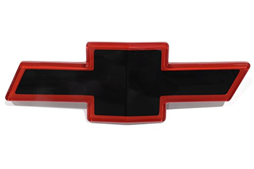 OEM NEW Front Grille Bowtie Emblem Badge Black & Red 89-93 C1500 K1500 15607532 ()