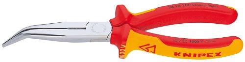 Knipex 26 26 200 - Flachrundzange mit Schneide, VDE-geprüft