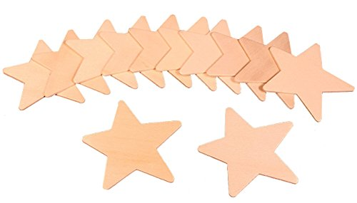Creative Hobbies Unfinished Wood Cutouts, Ready to Paint or Decorate - 3 Inch Star Shape - Pack of 12 ()