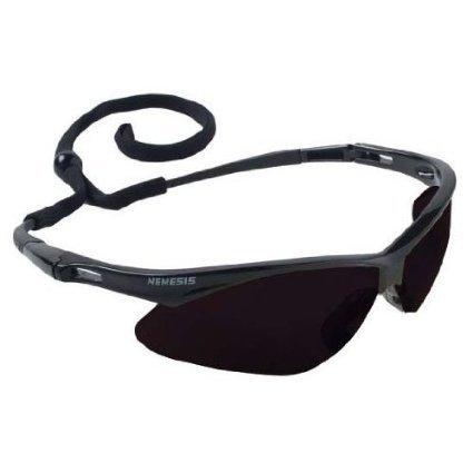 Jackson 22475 Nemesis 3020121 Safety Glasses Black Frame Smoke Lens Anti Fog, 1 - Safety Sunglasses