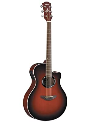 Yamaha APX500 Acoustic-Electric Guitar Bundle with Gig Bag, Tuner, Instructional DVD, Strings, Pick Card, and Polishing Cloth