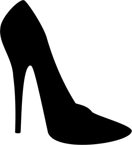 06 High Heel Shoes - High Heel Shoe Vinyl Decal Sticker Car Window Bumper- 6