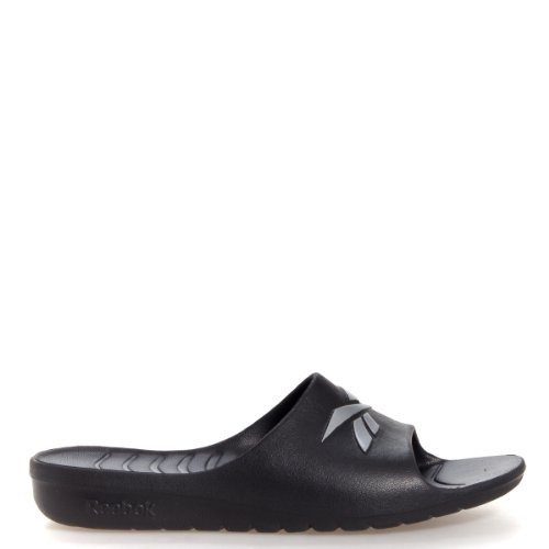 Reebok Mens Kobo VI JClip Black/Pure Silver Sandals 7 D - Medium