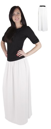 Long Blanc Maxi de C Mija pour 4001 femmes beaucoup les Jupe couleurs wxxqSPpXC