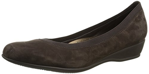 Brown Dark Lansing Trotters Womens Pump Wedge Suede Womens Lansing Trotters FIn80Aqx0w