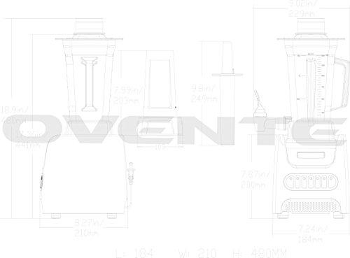 Ovente-BLH1000-1000-Watt-Professional-Blender