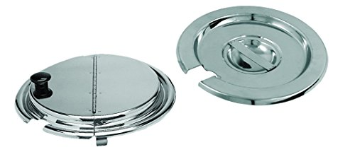 Update International ISC-25 Stainless Steel Inset Pan Cover, 2.5 Qt, Stainless Steel 201