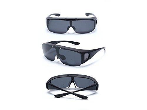 Libre para Hombre ATTOUPAN Sol Deportes polarizadas y para Negro al Negro Gafas de Aire Rnp4pZxwvq