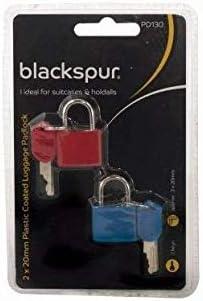 Blackspur Bb-pd130/recouvert de plastique bagages Cadenas Lot