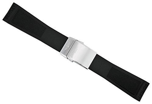 Strap Breitling Rubber (Breitling Black Rubber Strap 24mm - 20mm 220S-A20D.2)