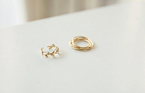Retro anillos para dedo / Fashion Midi-Anillo / Múltiples anillos para apilar / Chapado en oro de DesiDo®
