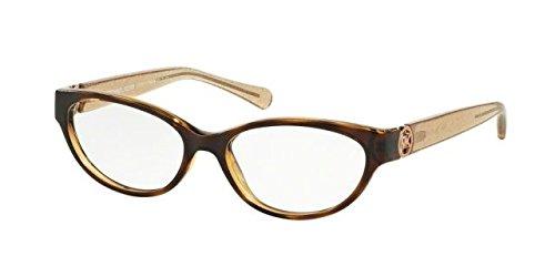 Michael Kors TABITHA VII MK8017 Eyeglass Frames 3104-52 - Dk Tortoise/taupe Glitter - Glitter Eye Cat Glasses
