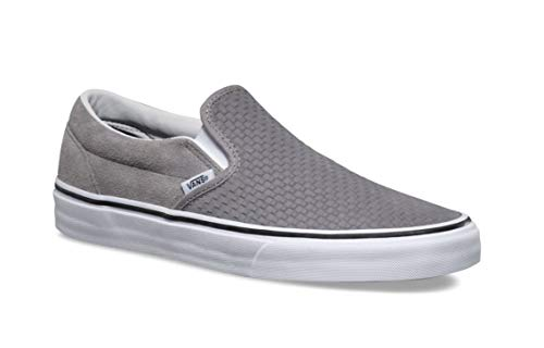 Pictures of Vans Men's Embossed Suede Slip-On Frost Gray True White 1