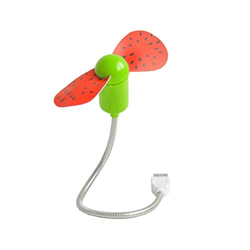 USB Small Fan Large Wind Rechargeable Mini Silent Hand Held Fans Portable Mini USB Fan, vertice, b Type Watermelon