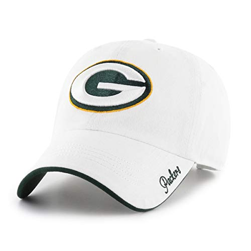 NFL Green Bay Packers Women's Accolade OTS Challenger Adjustable Hat, White, Women's